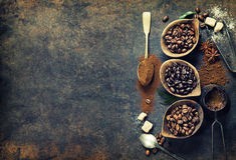 Composition en café Photographie stock libre de droits
