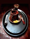 Composition en café Image libre de droits