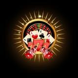 Composition en casino avec la roue de roulette Photos libres de droits
