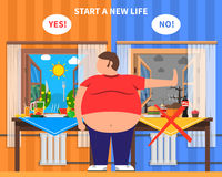 Composition en conception d'obésité Images libres de droits