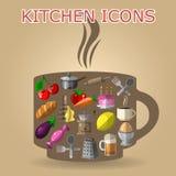 composition en cuisine Photos libres de droits