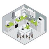 Composition en cuisine d'Isometrics illustration de vecteur