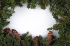 Composition en décoration de Noël et de nouvelle année sur le backgroun blanc Photographie stock libre de droits