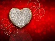Composition en diamant de coeur Fond du jour de Valentine illustration stock