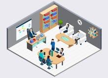 Composition en And Employees Isometric de patron illustration stock