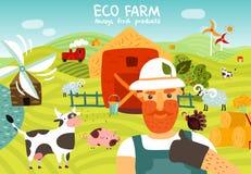 Composition en ferme d'Eco illustration libre de droits