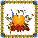 Composition en fleur sur le fond blanc Image stock
