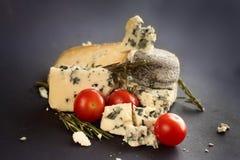 Composition en fromage de roquefort Image libre de droits