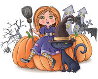 Composition en Halloween illustration stock