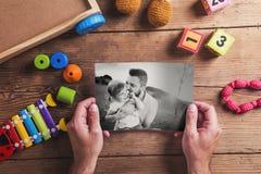 Composition en jour de pères Photos stock