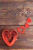 Composition en jour de valentines avec des coeurs Photo stock