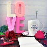 Composition en jour du ` s de Valentine Photo stock