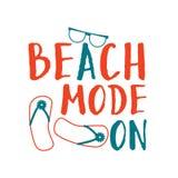 Composition en lettrage d'été Mode de plage dessus illustration stock