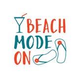 Composition en lettrage d'été Mode de plage dessus illustration de vecteur