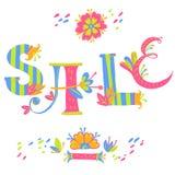 Composition en lettrage de main Alphabet floral Vente illustration de vecteur