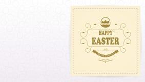 Composition en lumière de Pâques avec un cadre carré et des silhouettes de beaucoup d'oeufs, illustration stock