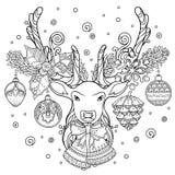 Composition en magie de Noël illustration de vecteur