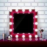 Composition en miroir de maquillage illustration libre de droits