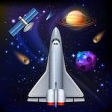 Composition en mission d'une navette spatiale de l'espace illustration libre de droits