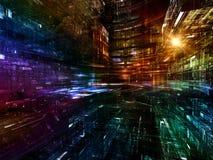 Composition en monde de fractale Image libre de droits