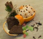 Composition en Noël avec des biscuits de Darth Vader Images stock