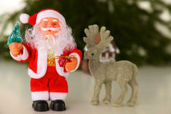 Composition en Noël avec le boîte-cadeau et les décorations photographie stock