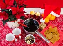 Composition en Noël avec le glogg Photos stock