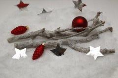 Composition en Noël avec les branches sèches Photo stock