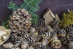 Composition en Noël et en nouvelle année Photo stock