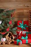 Composition en Noël parfaitement adaptée pour envoyer un ami et pour les rendre heureux Photographie stock