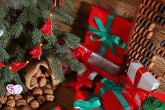 Composition en Noël parfaitement adaptée pour envoyer un ami et pour les rendre heureux Image stock