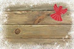 Composition en Noël sur le fond en bois avec l'espace vide pour des annonces Vue supérieure Images libres de droits