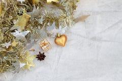 Composition en Noël sur un fond de glace Photo stock