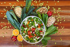 Composition en nourriture biologique photo libre de droits