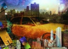 Composition en NYC illustration de vecteur
