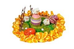 Composition en Pâques avec des oeufs Photographie stock