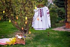 Composition en Pâques dans le jardin Image stock