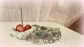 Composition en Pâques sur la table Image stock