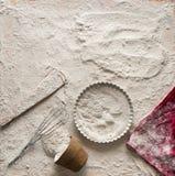 Composition en pâte pour des tartes Image libre de droits