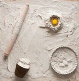 Composition en pâte pour des tartes Photos libres de droits