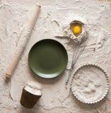 Composition en pâte pour des tartes Photo libre de droits