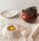 Composition en pâte pour des tartes Images stock
