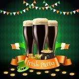 Composition en partie d'Irlandais de Patricks de saint illustration de vecteur