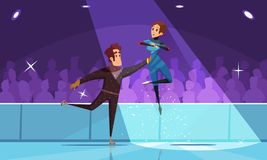 Composition en patinage artistique illustration stock