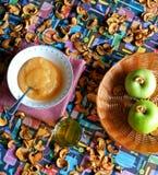 Composition en pommes Photo stock