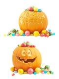 Composition en potiron de Halloween Photo libre de droits