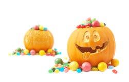 Composition en potiron de Halloween Photos libres de droits