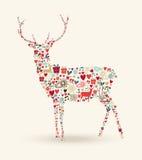 Composition en renne de Noël illustration stock
