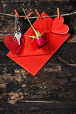 Composition en Saint-Valentin Photos stock