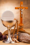 Composition en sainte communion Photographie stock
